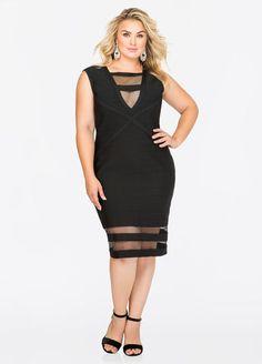 d3e16f6407b Mesh Hem Bodycon Bandage Dress Mesh Hem Bodycon Bandage Dress Best Plus Size  Clothing