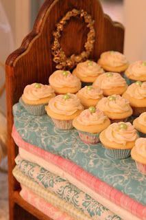 Princess and the Pea bed for a Cupcake a Stand! A Little Cuppa Tea: Once Upon A Time Baby Shower