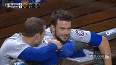 Anthony Rizzo had no idea that he and Kris Bryant had earned the nickname 'Bryzzo' Chicago Cubs Baseball, Baseball Boys, Baseball Boyfriend, Funny Baseball, Chicago Cubs Pictures, Cubs Players, Cubs Win, Go Cubs Go, Sports Photos