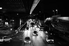 PM19:29 Route 43  #streetphotography #streetphoto_bw #blackandwhite #monochrome #landscape #urbanlandscape #cityspace #walkingaround #pointofmyview #life #nightphotography #ig_japan #ig_snapshots #ig_worldclub #ig_monochrome #モノクロ #ファインダー越しの私の世界 #スナップショット #light #helloworld #japan #kobe