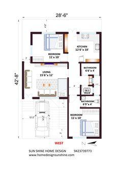 watch detail video for understanding the deep House Floor Design, Home Design Floor Plans, Two Story House Plans, Best House Plans, 30x50 House Plans, West Facing House, Indian House Plans, Kerala House Design, Bungalow House Plans