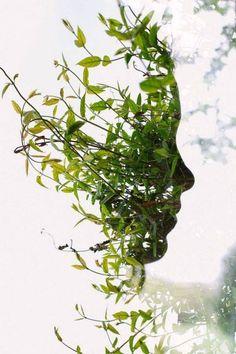 Face Plant por Archie Campbell.  En esta imagen no hay manipulación digital; se logró sólo con la cámara y la superposición de dos exposiciones para crear una única imagen.