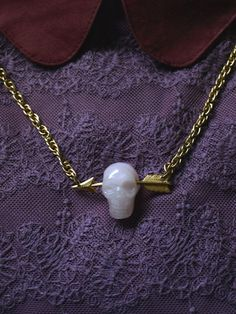 Skull & Arrow necklace by jacobeam(please a silver one!)