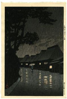 川瀬巴水(かわせはすい) - 相州前川の雨 - 新版画販売 - 浮世絵ぎゃらりい秋華洞