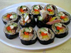 Vegan Kimbap (Korean Sushi Roll) Recipe