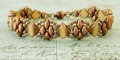 Linda's Crafty Inspirations: Bracelet of the Day: Silky Stacker - Ivory Copper