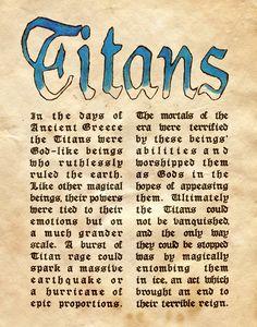 "Book of Shadows:  ""Titans I,"" by Charmed-BOS, at deviantART."
