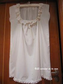 El calaixet de la iaia: Paso a paso de la confección de camisa de mujer para indumentaria tradicional valenciana.