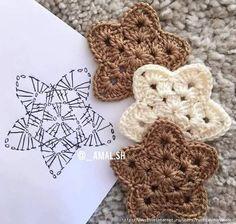Схемы вязания простых цветочков и звездочек (1) (633x602, 254Kb)