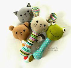 Baby rattle, handmade by boGár krea: