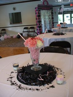 50th Anniversary Sock Hop Centerpieces