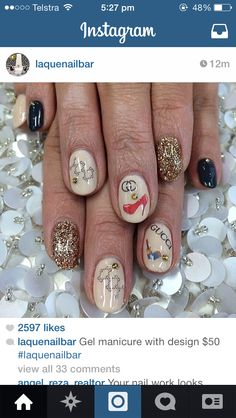 How gorgeous! From a nail bar in LA