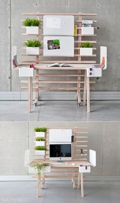 Fabulous Modern Desk Ideas for Functional And Enjoyable Office - DIY Design Mid Century Metal Minimalist Office Industrial Chair Lamp Setup Ideas Wood Bedroom Accessories White Decor Glass Small Rustic Computer With Storage Black Shelf Danish Layout Works Bureau Design, Design Desk, Office Interior Design, Office Interiors, Office Designs, Home Office Desks, Office Furniture, Office Table, Diy Design
