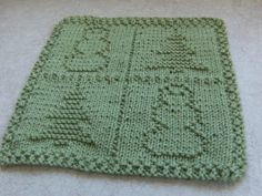 Free Knitted Dishcloth Patterns Snowman : Down Cloverlaine: Test Knits for Alli DISHCLOTH Pinterest Knits