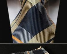 Elegantná sada - hodvábna kravata s vreckovkou - vzor14 Tie, Cravat Tie, Ties