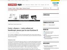 Hier j'ai regardé un reportage sur France 3 dans lequel Jacqueline Tiarti, maman d'enfant autiste, en était venue à faire une grève de la faim pour se faire entendre, puisque les administrations se fichaient éperdument de ses droits…