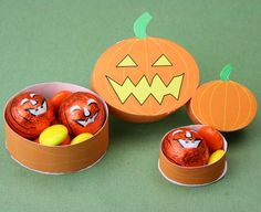 Make Free Printable Miniature Pumpkin Boxes for Treats or Dolls House Scenes