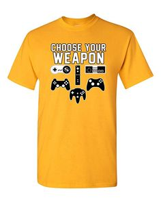 7b7c45383f City Shirts Mens Choose Your Weapon Console Gamer Funny DT Adult T-Shirt Tee