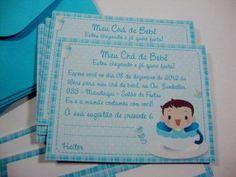 convites simples para cha de bebe