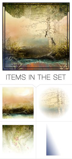 """Where the Squirrels Play"" by kre8in ❤ liked on Polyvore featuring art"