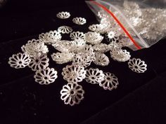 these are size 10mm silver plated Bead Caps. Get them right now at http://tophatter.com/auctions/14417