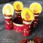 Toilet Paper Roll Advent Wreath