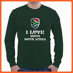 I LOVE SOUTH AFRICA SOWETO Unisex Long Sleeve Shirt - Cities countries flags shirts (*Partner-Link)
