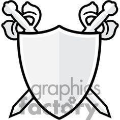Clip art of sword and shield 002. | 384824 by Graphics Factory, $19.95