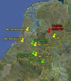 HABÉ-depots Nederland:  -Telcentra (PET-statiegeldflessen)  -Middelencentra (overige emballage)
