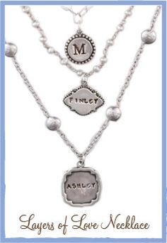 Layered Necklace for Mothers Day via Jamie State