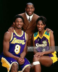 LA Legends Magic Johnson, Kobe Bryant and Lisa Leslie