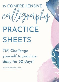 Are you trying to find some perfect printable calligraphy practice sheets? Whether you want a great calligraphy practice book, daily handwriting pdf, a calligraphy workbook or even a calligraphy workshop, this list has got it all. Explore the 15 best calligraphy practice sheets to start downloading and using today. You can learn the calligraphy alphabet easily with blank calligraphy practice sheets and calligraphy practice Calligraphy Worksheet, Brush Pen Calligraphy, Calligraphy Practice, Calligraphy Alphabet, Modern Calligraphy, Lettering Guide, Hand Lettering Styles, Lettering Tutorial, Art Journal Tutorial