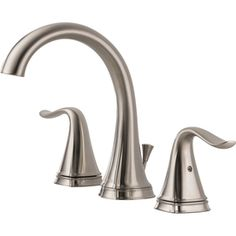 Delta�Celice Stainless 2-Handle Widespread WaterSense Bathroom Sink Faucet (Drain Included)