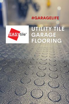 Utility Tile EASY|tile™ garage floor tiles are an ideal solution for your garage makeover! These are heavy-duty tiles, made of #recycledrubber, extremely durable because you can drive cars over them. Resurface your existing garage floor to cover oil stains and cracks. Easy to install, eco-friendly. #garagelife #garagetiles #garagefloor #garageideas #diy Garage Floor Tiles, Tile Floor, Easy Tile, Oil Stains, Garage Makeover, Recycled Rubber, Floor Rugs, Eco Friendly, Flooring