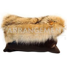 Coyote Flap Pillow: A genuine Coyote Fur pelt pillow would be a great accent to your home decor. Coyote fur is wild and fluffy with long guard hairs and dense underfur, making this fur extremely durable and warm. Because these pelts are natural and unique, each pillow will differ in color and pattern.