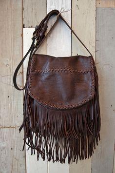 Brown Leather Fringe...Boho Style
