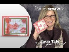 VIDEO: How to make a Faux Ceramic Tile Card   Stampin Up Demonstrator - Tami White - Stamp With Tami Crafting and Card-Making Stampin Up blog