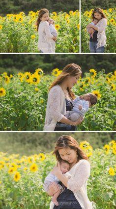 Portland Newborn Photography, Portland Baby Photography, Shannon Hager Photography, Sunflowers