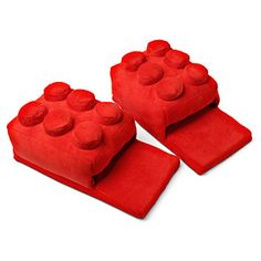 ThinkGeek :: Building Brick Slippers