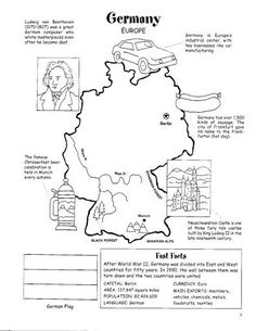 germany map worksheet geography germany for kids germany for kids around the world. Black Bedroom Furniture Sets. Home Design Ideas