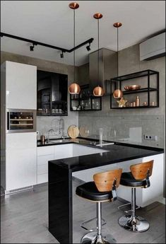 48 + Stunning Apartment Kitchen Decorating - Home By X The kitchen is an integral a part of any home. For most individuals, the kitchen is crucial part of the home. That is fairly comprehensible conserving in thoughts the utilitarian operate of the kitche Kitchen Room Design, Modern Kitchen Design, Home Decor Kitchen, Interior Design Kitchen, Home Design, Home Kitchens, Kitchen Ideas, Design Ideas, Decorating Kitchen