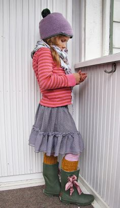 pink, purple, boots, layers...