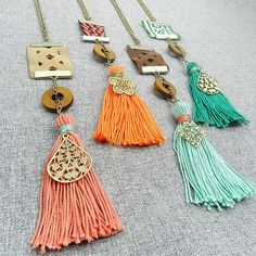 I like the tassel with filigree but I don't like the beads.