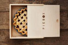 Piebox Madera Carrier Pie Con La manija de la correa de cuero | eBay