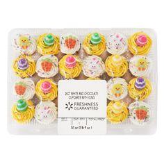 Chocolate Mini Cupcakes, Mini Chocolate Chip Muffins, Vanilla Cupcakes, Walmart Cakes, Confetti Cupcakes, Cupcake Cream, Unicorn Birthday Parties, Dessert Recipes, Desserts