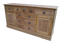Reclaimed Teak Furniture: Dressoir made of total reclaimed teak