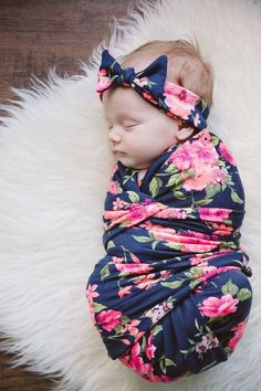 Secret Garden Swaddle Blanket and Headband Set / by MilkmaidGoods