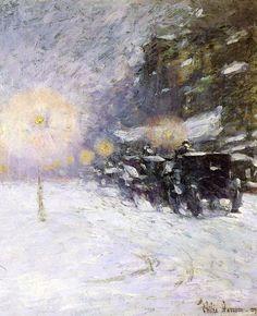 Winter Midnight by Frederick Childe Hassam