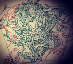 Amsterdam TATTOO 1825 KIMIHITO Dragon Japanese style tattoo design