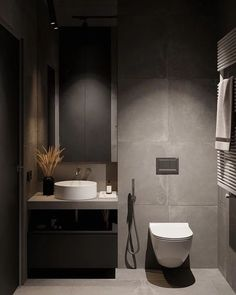 Ideas Small Bathroom Interior Minimal For 2020 Small Bathroom Interior, Bathroom Red, Bathroom Design Luxury, Modern Bathroom Design, Bathrooms, Master Bathroom, Bedroom Modern, Bathroom Designs, Design Wc